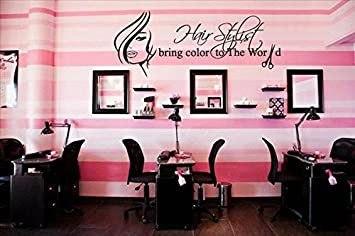 Amazon wall decal vinyl sticker decals decor hair salon wall decal vinyl sticker decals decor hair salon hairdresser beauty hair stylist bring color to the teraionfo