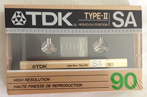 Vintage Rare TDK Type II SA90 High Resolution High CrO2 Position 90 Minute Cassette
