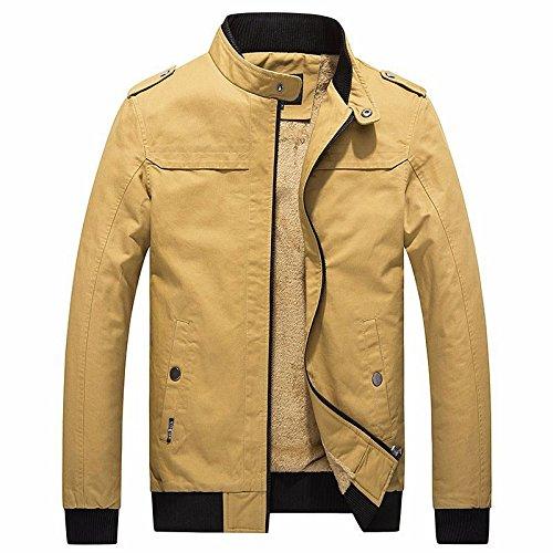 F L WPEW-Hommes's Coats Veste Manteau rembourré et Chaud Manteau Coton Moelleux
