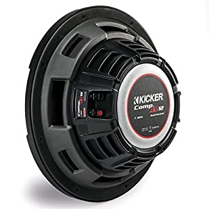 "Kicker 1000W 12"" 2-Ohm Slim Shallow Subwoofer Sealed Enclosure 