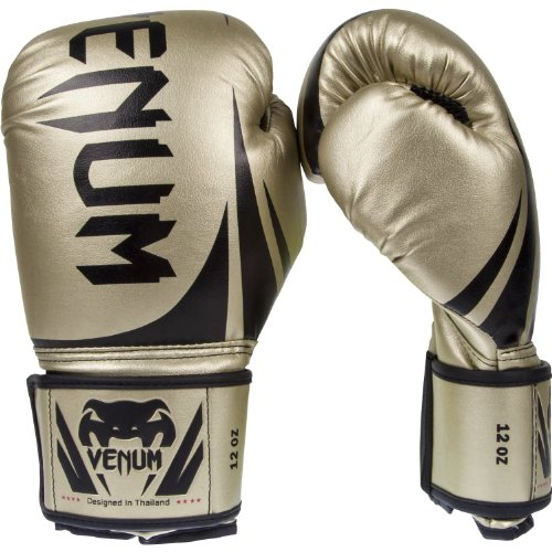 Venum Challenger 2.0 Boxing Gloves, Gold, 12-Ounce