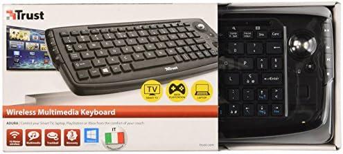 Trust Andura Wireless Entertainment - Teclado wireless con trackball Negro (Importado Italia): Amazon.es: Informática