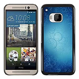 Slim Design Hard PC/Aluminum Shell Case Cover for HTC One M9 Bubbles Pattern / JUSTGO PHONE PROTECTOR