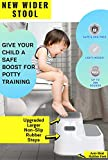 Wider Dual Height 2 Step Stool for Kids | Slip