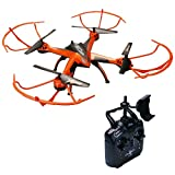 ATTOP A10 FPV RC Drone 4 Rotors Quadcopter with HD Wifi Camera 2.4G 6 Axis Gyro Remote Control Heli with One Key Take Off Altitude Hold and 3D Flips(Orange)