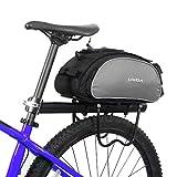 Lixada Bicycle Rear Seat Bag Multifunctional Bike Rack Seat Bag Pannier Trunk