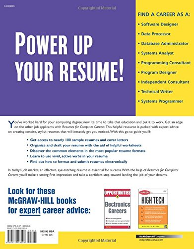 Resumes for Computer Careers (McGraw-Hill Professional Resumes ...