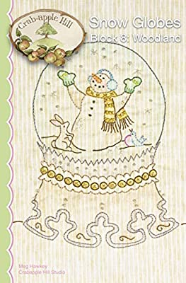 SNOW GLOBES BLOCK 8 WOODLAND  EMBROIDERY PATTERN From Crabapple Hill Studio NEW