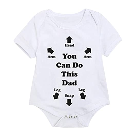 4163355db299 Kaicran Toddler Baby Girl Boy Short Sleeve Letter Print Bodysuit Romper  Jumpsuit Clothes Outfits-You