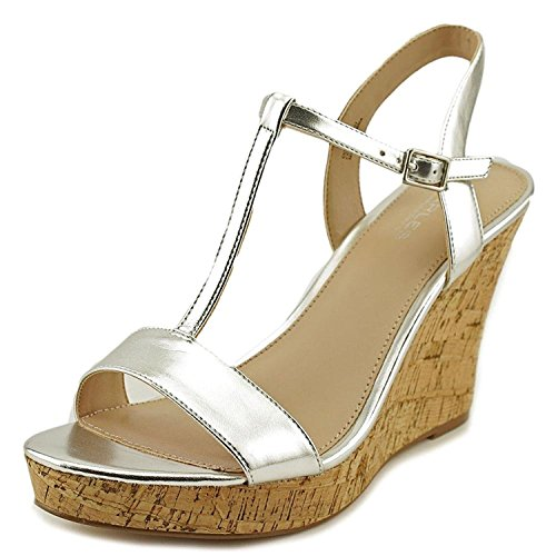 CHARLES BY CHARLES DAVID Women's Libra Wedge Sandal, Silver Metallic, Size 10.0