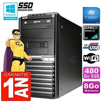Acer Pc Torre Veriton M421G Athlon II X2 8 GB Disco 480 GB SSD ...
