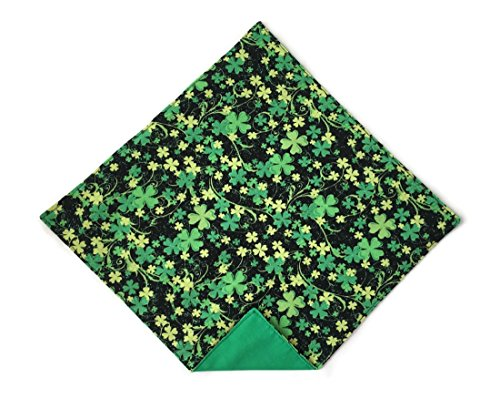 Shamrock Handkerchief for St. Patrick's Day Black & Green Pocket Square ()