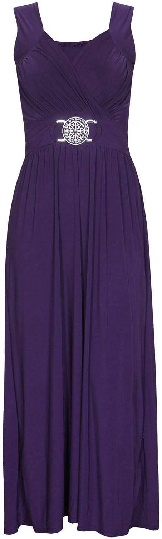 Glossy Look Womens Long Dress