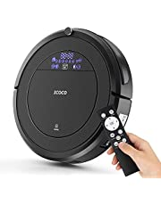 Robot Vacuum Cleaner, ICOCO Automatically Sweeping Floor, High Suction,Self-Charging,Ultra Flexible,Daily Planning, Good for Hard Floor and Low Pile Carpet with Remote Controller