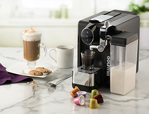 Gourmia GCM6500 One Touch Automatic Espresso Cappuccino & Latte Maker Italian engineered and components Coffee Machine Froth Milk In Cup with the Push of One Button Nespresso Compatible by Gourmia (Image #1)