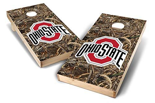 PROLINE NCAA College 2' x 4' Ohio State Buckeyes Cornhole Board Set - Realtree Max-5 Camo