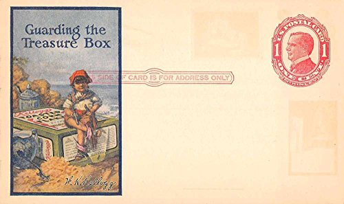 Child on Cereal Box Kellogg Government Postal Advertising Postcard J65062