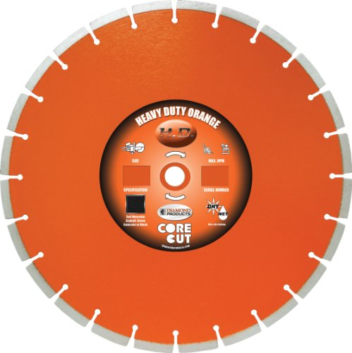 UPC 603461663090, Diamond Products Core Cut Diamond Products 66309 Heavy Duty Orange Segmented High Speed Ultimate Diamond Blade 12 X .125 X Unv