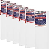 US Art Supply 4 x 12 inch Professional Quality Acid Free Stretched Canvas 6-Pack - 3/4 Profile 12 Ounce Primed Gesso - (1 Full Case of 6 Single Canvases)