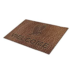 C-Kath Rubber Outdoor Mats Golden Edge Modern Doormat