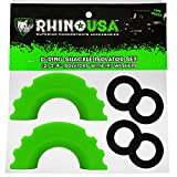 Rhino USA (2 D-Ring Shackle Isolators with (4) Washers (Green)