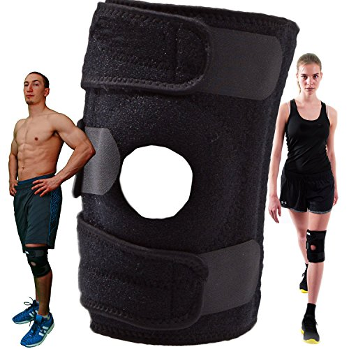 Penguin Flare Skirt (Sanluba Knee Support, Open-Patella Stabilizer with Adjustable Strapping & Extra-Thick Breathable Neoprene Sleeve)