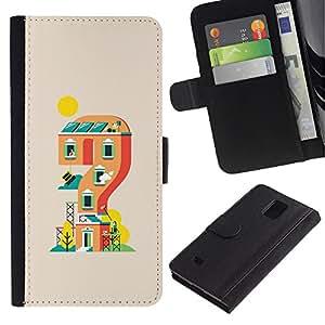 // PHONE CASE GIFT // Moda Estuche Funda de Cuero Billetera Tarjeta de crédito dinero bolsa Cubierta de proteccion Caso Samsung Galaxy Note 4 IV / Mario Level /