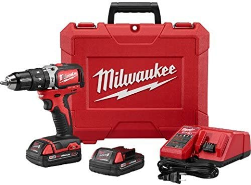 Milwaukee 2702-22CT M18 Compact Brushless Hammer Drill Driver Kit