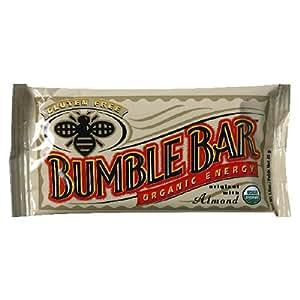 BumbleBar Organic Energy Original with Almond, 1.6 Ounce Bar (Pack of 15)