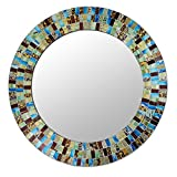 NOVICA ''Retro Dance'' Glass Mosaic Circular Wall Mirror