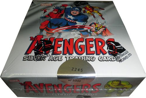 Marvel Avengers Silver Age Factory Sealed Trading Card Box -