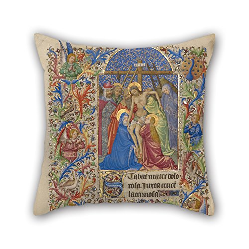 16 X 16 Inches / 40 By 40 Cm Oil Painting Spitz Master (French, Active About 1415 - 1425) - The Deposition Throw Pillow Covers ,twin Sides Ornament And Gift To Him,seat,valentine,wedding,coffee House