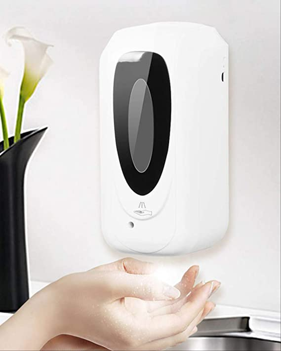 TESEU Máquina De Desinfección De Manos con Sensor Automático 1000ml Máquina De Limpieza De Manos con Rociador De Niebla Montado En La Pared Sin Contacto Recargable Blanco: Amazon.es: Hogar