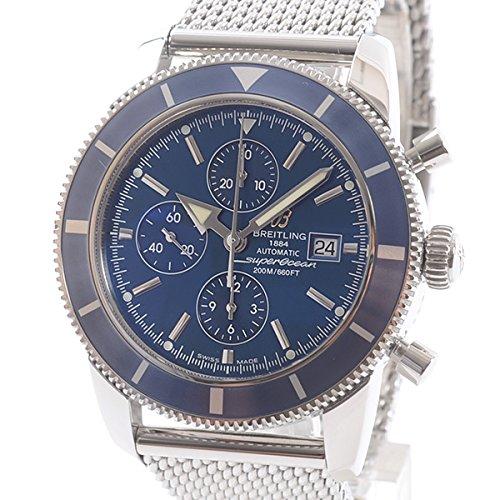 [ブライトリング]BREITLING 腕時計 ヘリテージクロノグラフ A272C58OCA 中古[1304206]ブルー 付属:国際保証書 COSC B07DPCBBJJ