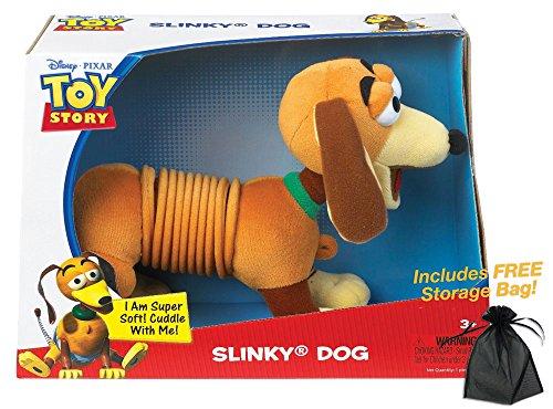 Disney Pixar Toy Story Plush Slinky Dog with Free Storage Bag
