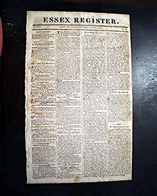 Early MAMMOTH CAVE System Edmonson County KENTUCKY Description 1816 Newspaper ESSEX REGISTER, Salem, Massachusetts, Aug. 3, 1816
