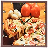 3dRose LLC Pizza Pie 10 by 10-Inch Wall Clock
