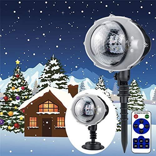 LED-Weihnachtsbeleuchtung im Freien wasserdichte Projektor Schneeflocken Innenhochzeitsfest Dekor Schneeszene Gartennachtbeleuchtung
