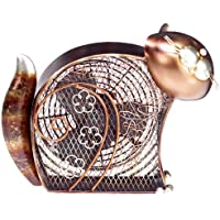 DecoBREEZE Table Fan Two-Speed Electric Circulating Fan, Kitty Figurine Fan