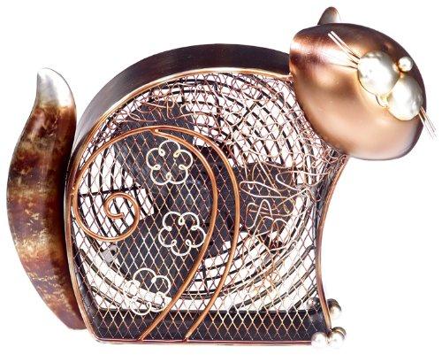 Deco Breeze Brushed Copper Retro Table Fan, 7 Inch, Kitty (Mini Fan Deco)