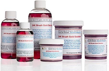 4 oz Gel - 24k Brush Gold Plating Solution - The Fastest