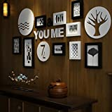 LQQGXL Frame wall, classical creative retro art living room study restaurant wooden photo wall large picture frame wall combination Photo frame ( Color : A )