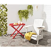 Safavieh Patio Collection Hampton Adirondack Acacia Wood Chair, White