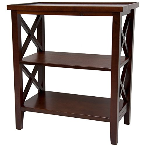 Oriental Furniture 26'' Architectural Book Case Table - Cherry