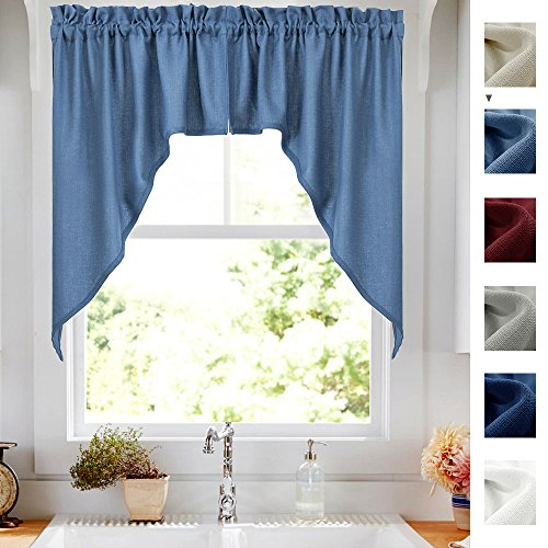jinchan 2 Panels Swags and Valances Set Window Treatments, B