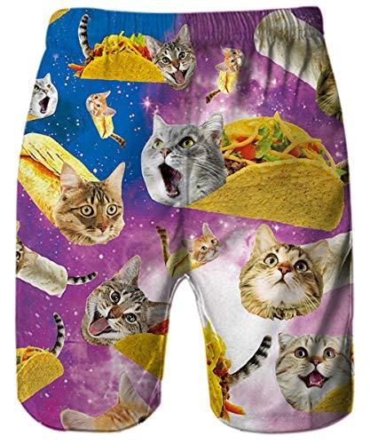 p Hawaïen À Pizza T Et Courtes Raisevern Outfits Pantalons Plage Vacances Cats Vêtements Usure shirts Casual Chemise xxl Hawaii Hommes S Shorts Aloha Boutons Manches Ensembles 4xqwg5p8w