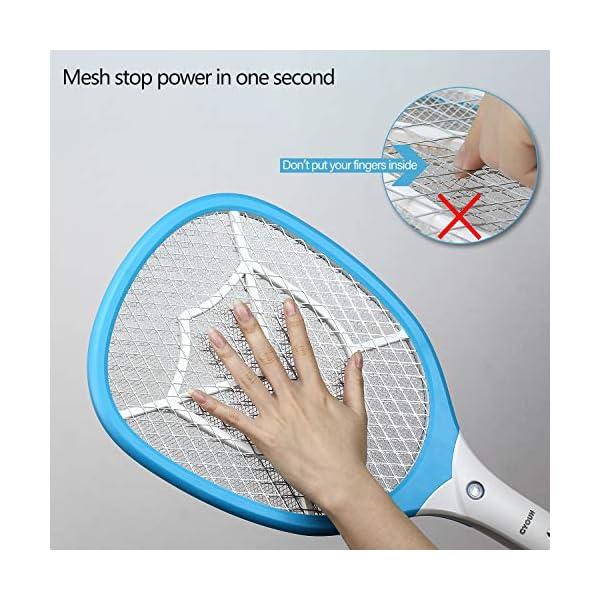CYOUH Racchetta Zanzare Elettrica, Racchetta Elettrica Insetti con USB Ricaricabile Insetti Volare Swatter Zapper con… 5 spesavip