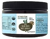 Black Maca Capsules - Raw, Certified Organic, Fresh Harvest from Peru, Fair Trade, GMO-Free, Gluten Free and Vegan - 750 Mg, 200 Ct