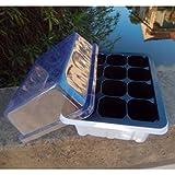 12 Cells Seedling Starter Trays Plant Seeds Grow Insert Propagation Box Case NEW