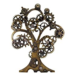 Ebros Large 20 High Steampunk Tree of Life Wall Decor Victorian Sci Fi Celtic Sacred Tree with Painted Gearwork Pressure Gauge Hanging Plaque Figurine